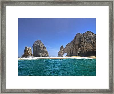 Framed Print featuring the photograph The Arch  Cabo San Lucas On A Low Tide by Eti Reid