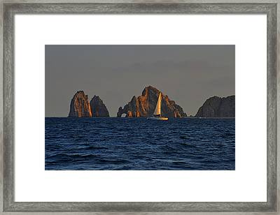 The Arch El Arco Cabo San Lucas Framed Print by Christine Till