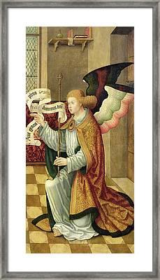 The Archangel Gabriel Framed Print by German School