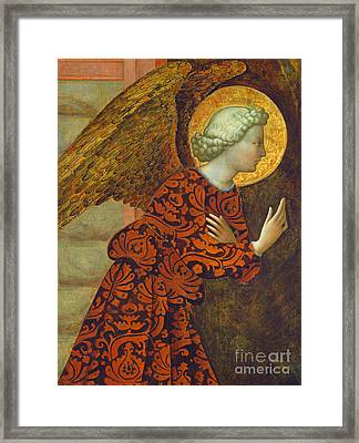 The Archangel Gabriel Framed Print by Tommaso Masolino da Panicale
