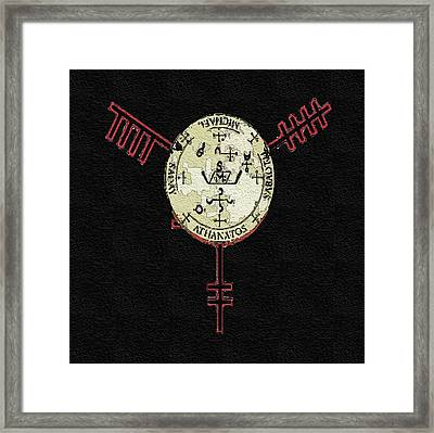 The Archangel Michael Sigil Framed Print by Mitchell Gibson