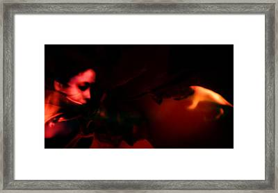 Framed Print featuring the photograph The Architect Of Red  by Jessica Shelton
