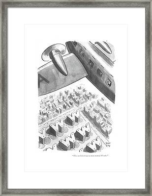 The Architect Was A Man Named Wenks Framed Print