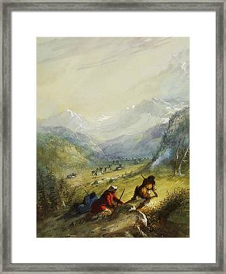 The Argali Mountain Sheep Framed Print by Alfred Jacob Miller