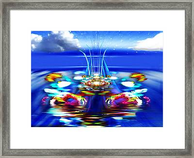 The Arkadian Fountain Framed Print by Mario Carini
