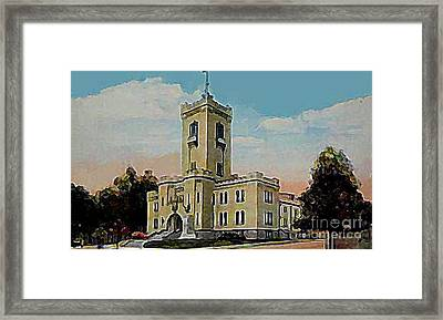 The Armory In White Plains Ny 1923 Framed Print by Dwight Goss