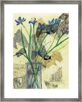 Framed Print featuring the painting The Arrangement by Elaine Elliott