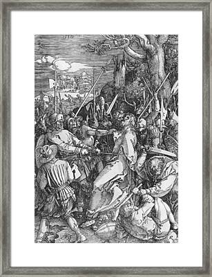 The Arrest Of Jesus Christ Framed Print by Albrecht Durer or Duerer