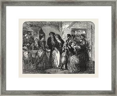 The Arrest Of Louis Xvi And His Family At Varennes In June Framed Print by T.f. Maurice Charles Mathieu Bonvoisin (named Maurice Charles Mathieu Bonvoisin (named Mars), (1849-1912), Belgian), (1849-1912), Belgianhall