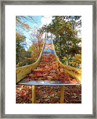 The Arrival Of Fall Framed Print