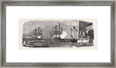 The Arrival Of Her Majesty At Portsmouth On The Occasion Framed Print