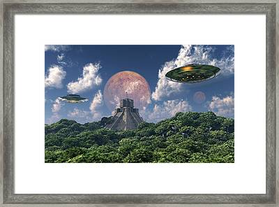 The Arrival Of Planet Nibiru As Seen Framed Print