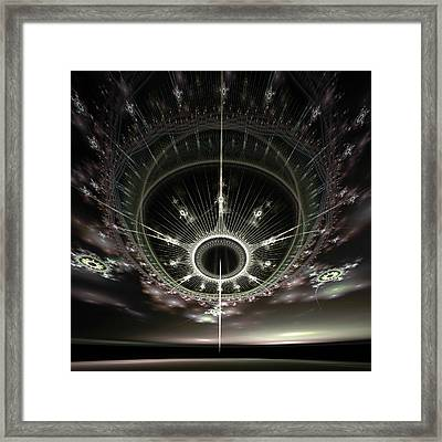 Framed Print featuring the digital art The Arrival by Richard Ortolano