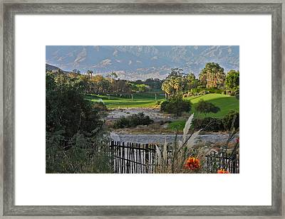 The Arroyo In Rancho Mirage Framed Print by Kirsten Giving