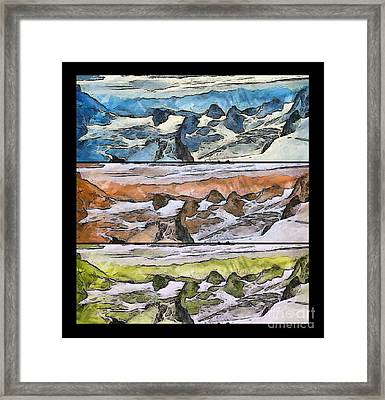 The Art Colors Abstract Framed Print by Odon Czintos