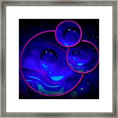 Art Glass Project-4 Cobalt Blue Lampwork Framed Print