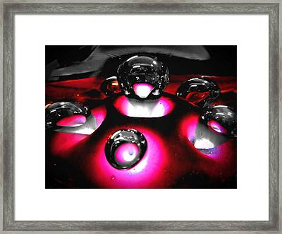 Art Glass Project-2 Fuchsia Lampwork Framed Print