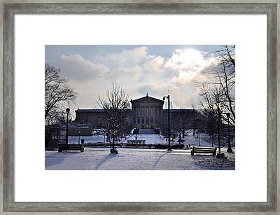The Art Museum In The Snow Framed Print by Bill Cannon