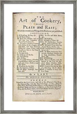 The Art Of Cookery Framed Print by British Library