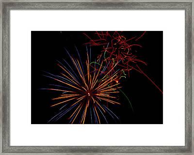 The Art Of Fireworks  Framed Print by Saija  Lehtonen