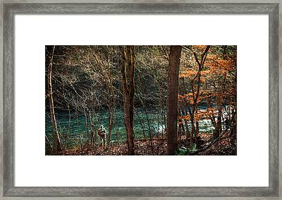 The Art Of Fly Fishing Framed Print by Karen Wiles