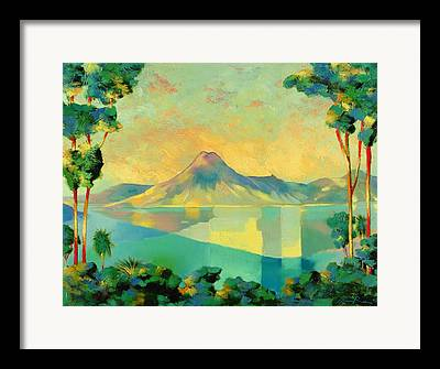 Green And Yellow Framed Prints