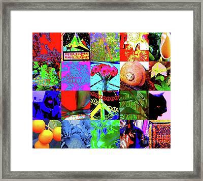 The Art Of Nina Montage Framed Print