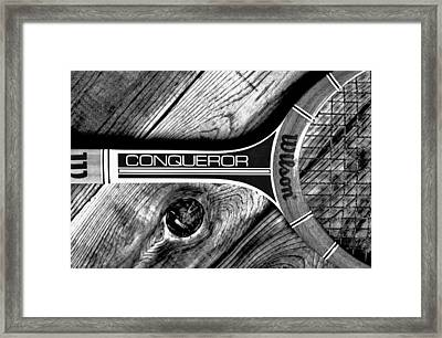 The Art Of Tennis Framed Print by Benjamin Yeager