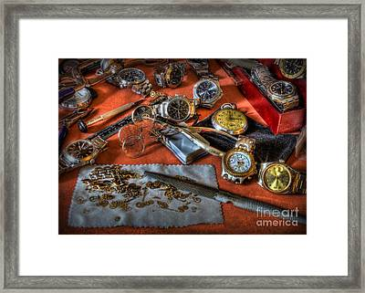 The Art Of The Timepiece - Watchmaker  Framed Print