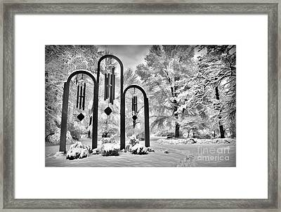 The Art Of Winter - Greensboro North Carolina Framed Print