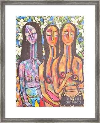 The Art Show Framed Print by Chaline Ouellet