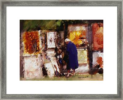 Framed Print featuring the painting The Art Show by Ted Azriel