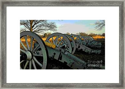 The Artillery Framed Print by Cindy Manero