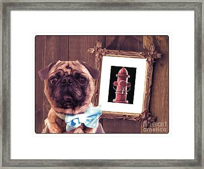 The Artist And His Masterpiece Framed Print