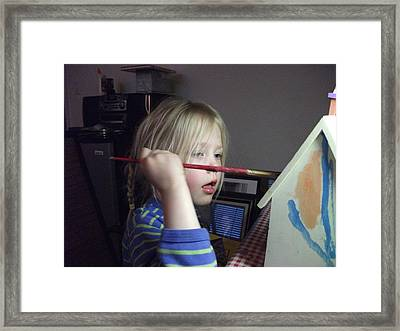 Framed Print featuring the photograph The Artist  by Dan Whittemore