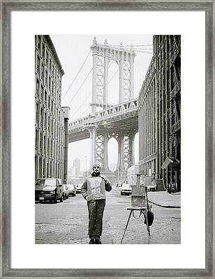 The Artist In New York Framed Print by Shaun Higson