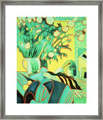 The Artist Reflected Watercolour Framed Print by Lillian Delevoryas