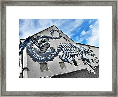 The Artist Roa At Work  Framed Print