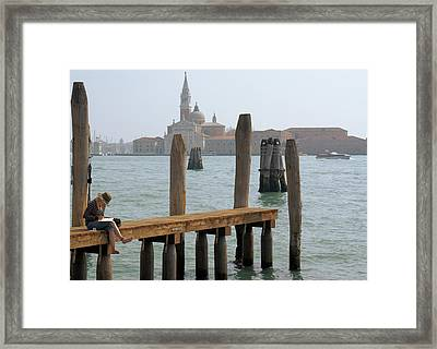 Framed Print featuring the digital art The Artist by Ron Harpham