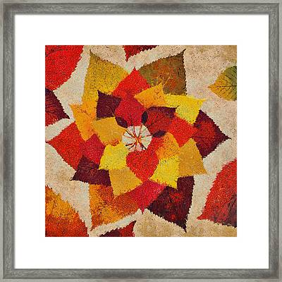 The Artistry Of Fall Klimt Homage Framed Print by Angelina Vick