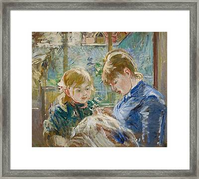 The Artists Daughter Framed Print by Berthe Morisot