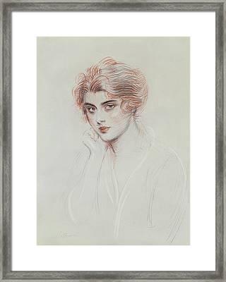 The Artists Daughter Framed Print by Paul Cesar Helleu