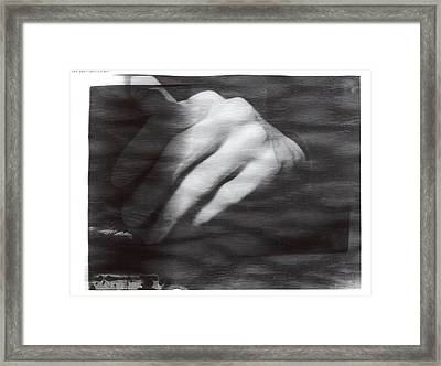 The Artists Hand Framed Print