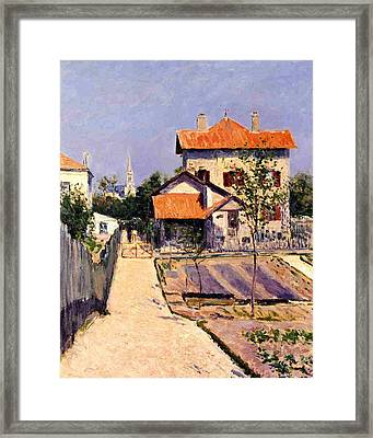 The Artists House At Yerres Framed Print