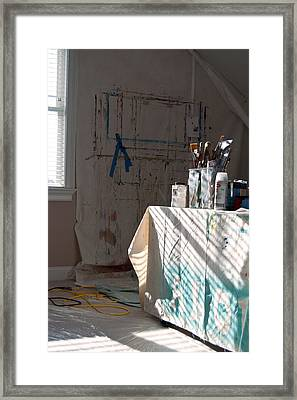 The Artists Studio Framed Print by Paulette B Wright