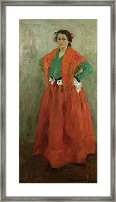 The Artists Wife Dressed As A Spanish Woman Framed Print