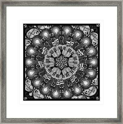 Mandalart Framed Print