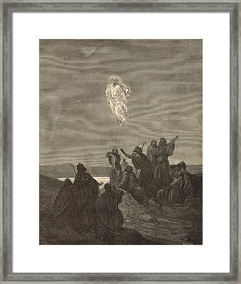 The Ascension Framed Print by Antique Engravings