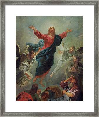 The Ascension Framed Print by Jean Francois de Troy