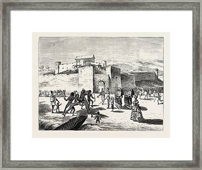 The Ashantee War, Arrival Of The Governor At Cape Coast Framed Print by African School